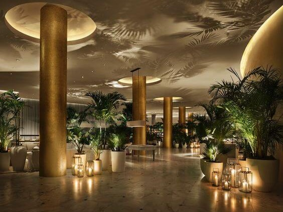 The Miami Beach Edition, lobby luxury boutique hotel