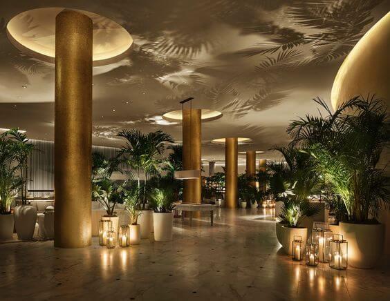 The Miami Beach Edition, lobby luxury boutique hotel
